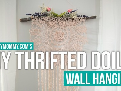 $5 GOODWILL CHALLENGE | Thrifted Doily Boho Wall Hanging