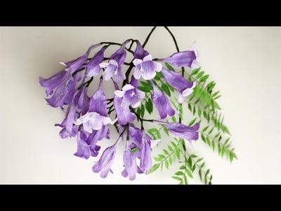 ABC TV | How To Make Jacaranda Mimosifolia Paper Flower From Crepe Paper - Craft Tutorial