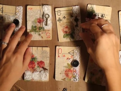 Altered Playing Cards Process.Making journaling cards
