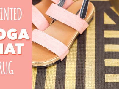 Back To School Dorm DIY: Painted Yoga Mat Rug
