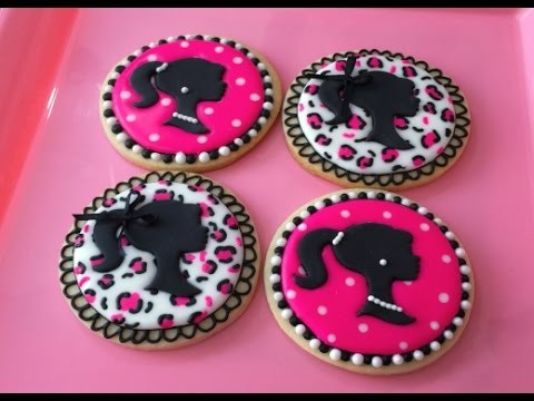 Barbie Silhouette Cookies(How To) 1st Set