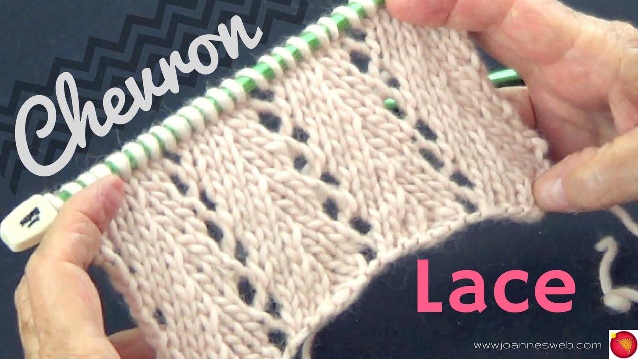 Knitting Lace Chevron Stitch Pattern : Chevron lace knit stitch my crafts and diy projects