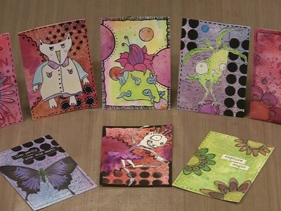 Creating ATCs with That's Crafty Dinky Stencils by Joggles.com
