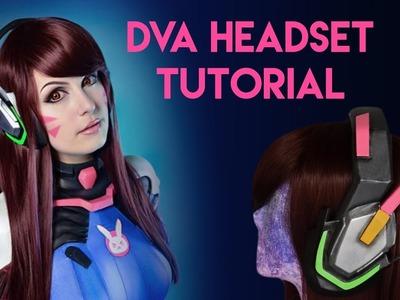 D.Va Cosplay Headset Tutorial - EVA Foam