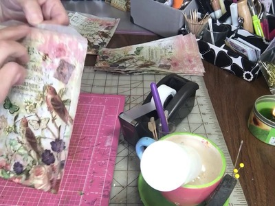 Decorated Glassine bags and a napkin tip