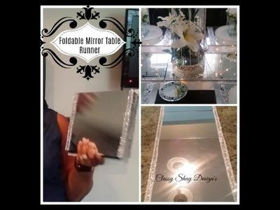 DIY: Dollar Tree - Foldable Mirror Table Runner -Home Decor