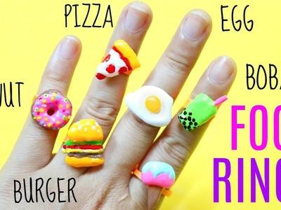 DIY FOOD RINGS | Miniature Food Using Hot Glue Gun