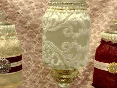 DiY Glam Candy Jar Upcycle.Wedding Chat- Talkative Tutorial