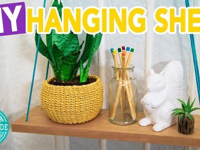 DIY Hanging Rope Shelf- HGTV Handmade