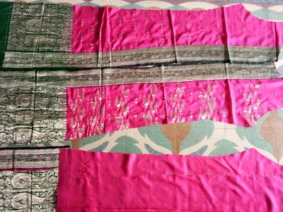 DIY. How to cut a long kurta party wear from old border saree