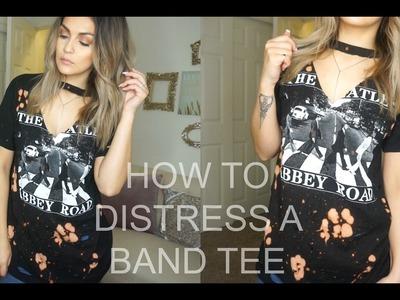 DIY  How To Distress And Bleach T-Shirts   Brenda Manalac