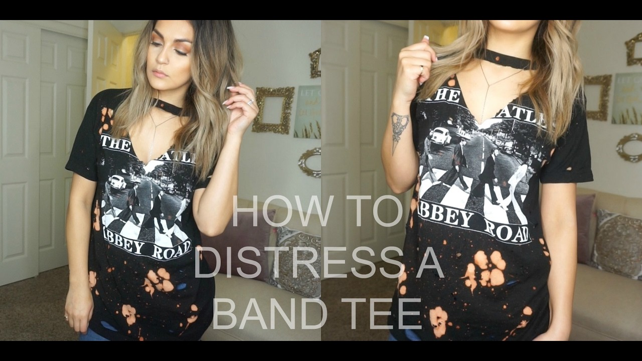 Diy How To Distress And Bleach T Shirts Brenda Manalac
