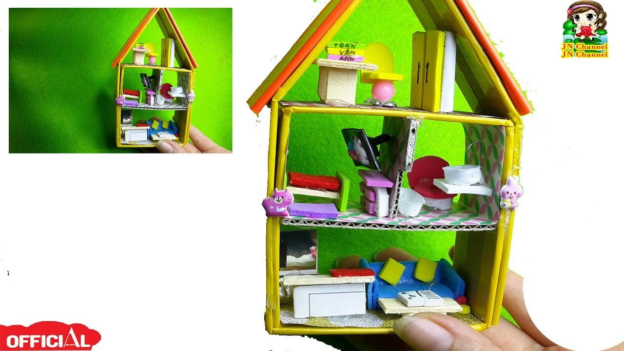 DIY Miniature DollHouse| Tự làm nhà mini