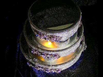 DIY Three Tier Lighted Rotating Wedding Cake Stand DIY Wedding Series Wk 8