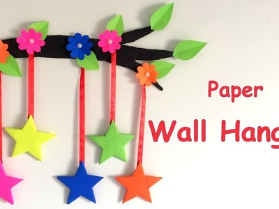 DIY - Wall Hanging from Paper.paper craft.card board craft. Home decoration idea