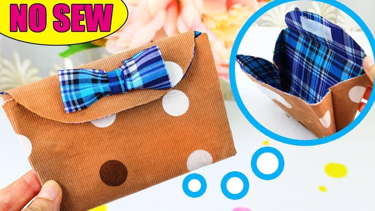 DIY WALLET for GIRL No Sew & DIY Purse Bag
