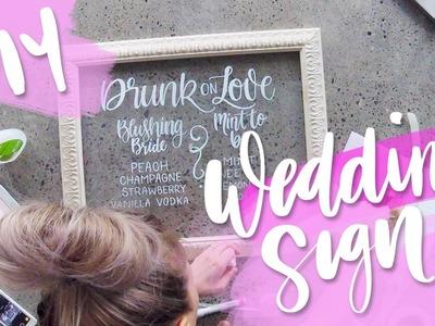 DIY Wedding Glass Wedding Sign