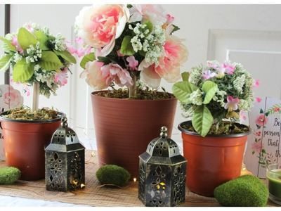 DOLLAR TREE FLORAL TOPIARY WEDDING CENTERPIECES
