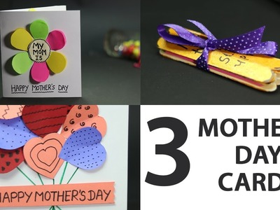 Easy & Cute Mother's Day Card, Gift Ideas for Kids from Popsicle Sticks and Paper Sheet