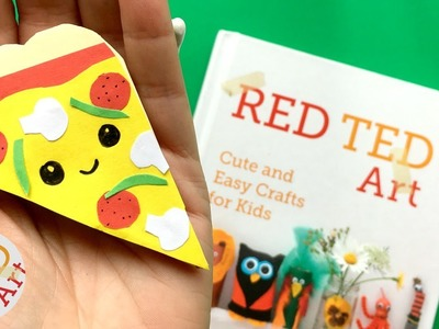 Easy Pizza Bookmark Corner DIY - Kawaii Bookmark DIYs - Paper Crafts