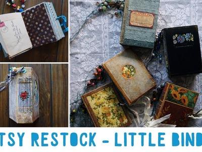 Etsy Restock | Handmade Vintage Journals | Little Bindy