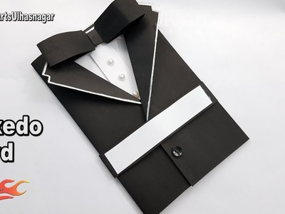 Father's Day Card Idea | How to make Suit Tuxedo Card | JK Arts 1234