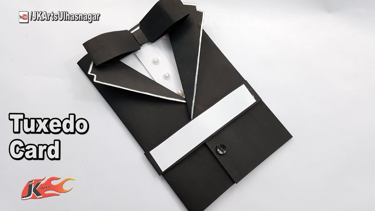 Father's Day Card Idea   How to make Suit Tuxedo Card   JK Arts 1234