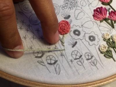 Flower Stem, Stem Stitch Tutorial