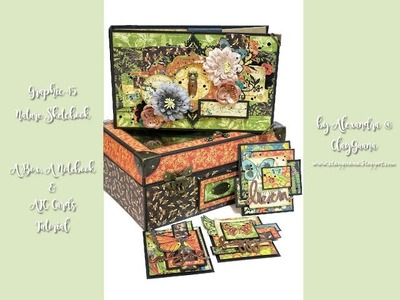 G45 Nature Sketchbook - Tutorial - An Acrylic Lid Box and a Notebook