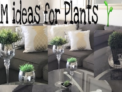 GLAM HOME DECOR | ???? Plant Glam| simple ideas for Plants & more