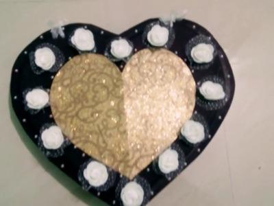 Heart????shape scrapbook greeting card.