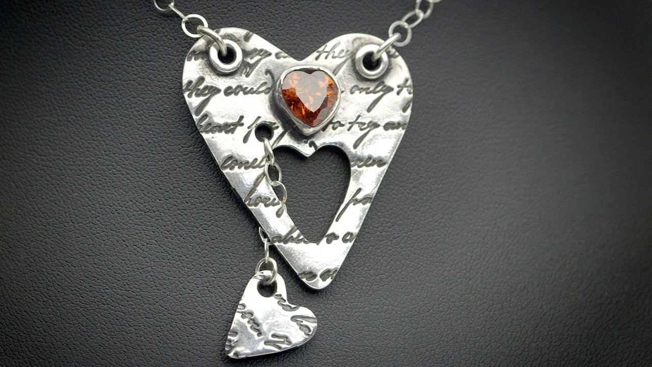 Here's My Heart Art Clay® Silver Necklace by Lisa Pavelka