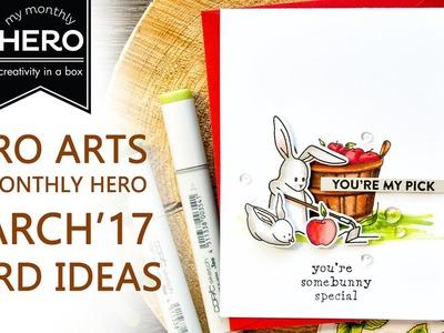 Hero Arts March 2017 Card Ideas