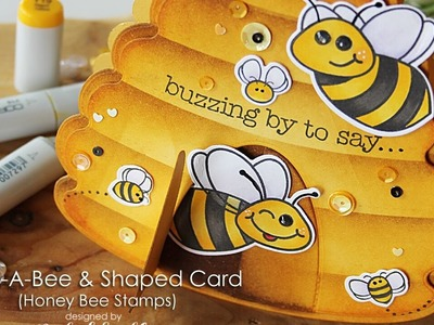 Honey Bee Stamps   Hive Shaped Bees Card