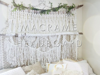 HOW TO: DIY Macrame Headboard