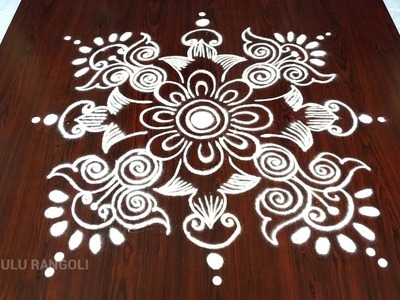 How to draw kolam easy || latest easy and simple rangoli designs || best and easy rangoli designs