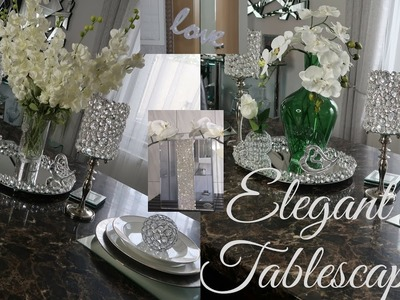 HOW TO~Elegant Glam Tablescape Ideas *Mother's Day, Brunch, Girl's Night