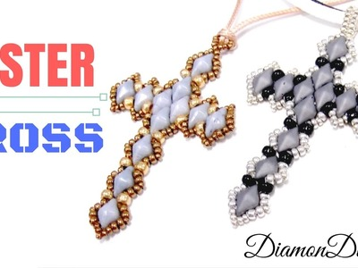 How to make a Easter Cross with DiamonDuo beads - Beading Ideas