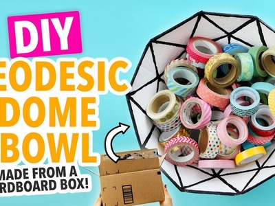 How to Make a Geodesic Dome Bowl from a Cardboard Box! - HGTV Handmade