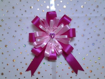 How to make an easy Ribbon Bow for gift wrap very beautiful