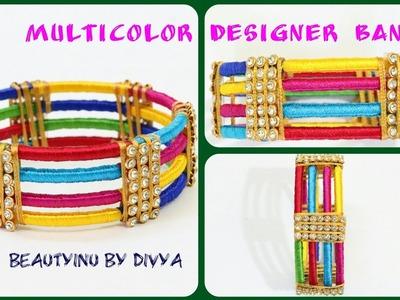 How to make Designer Silk Thread Bangle at Home. Silk Thread Jewellery. Designer Bangle