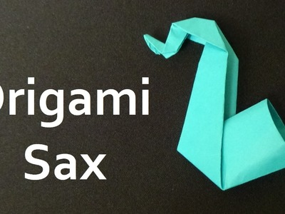 How to make origami sax