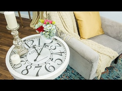 How To - Paige Hemmis' DIY Clock End Table - Hallmark Channel