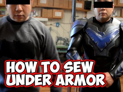 How to sew Under Armor tutorial for Cosplay costumes.