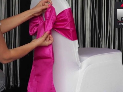How To: various ways to tie taffeta sash to chair cover