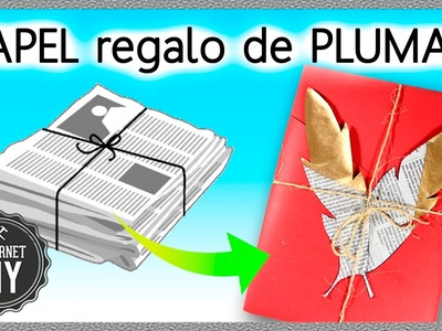 How to WRAP GIFTS with NEWSPAPER * REGALOS ORIGINALES con PAPEL PERIÓDICO  ✅  Top Tips in 1 minute
