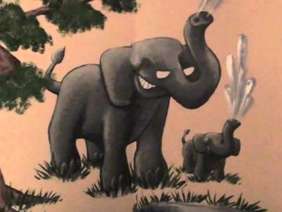 Jungle Animal Mural in Baby's Nursery