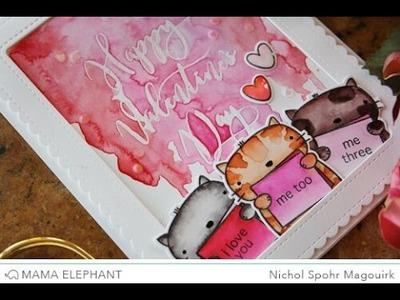 Mama Elephant Designer Series | Swashy Letters Valentine's Card
