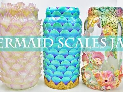 Mermaid Scales Jars, Polymer Clay Tutorial || Maive Ferrando