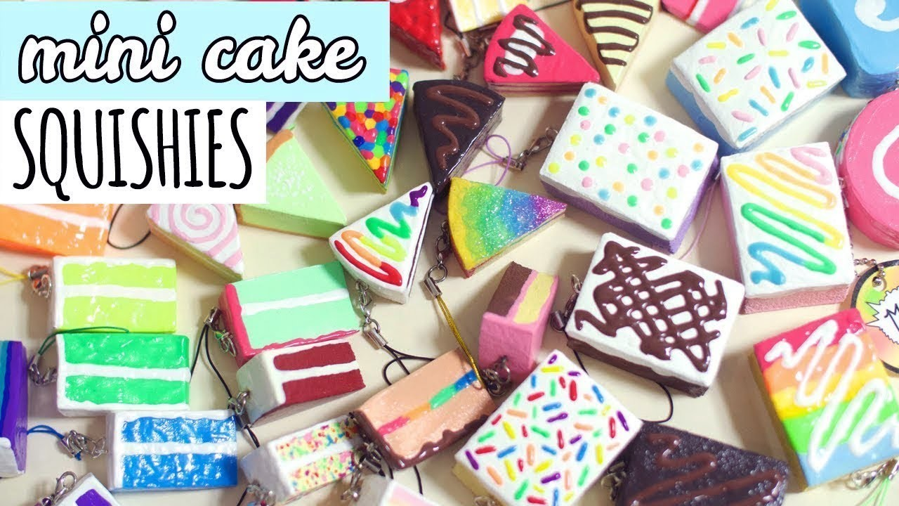 Diy Squishy Cake : Mini Cake Squishies, Homemade Squishy Update #6, My Crafts and DIY Projects